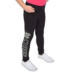 Cheer Rhinestone Teamwear Foldover Full Length Cotton Leggings