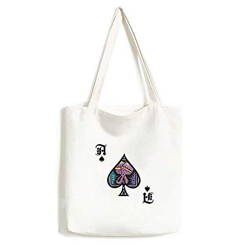 Mexicon - Bolsa de Mano para Manualidades, diseño de Pala de póquer, Color Morado