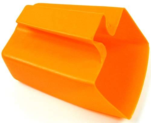wellenshop Lenzfass Ösfass Leinzeimer Wasserschöpfer Kunststoff Orange 180 x 140 x 105 mm Bruchfest Flexibel Boot