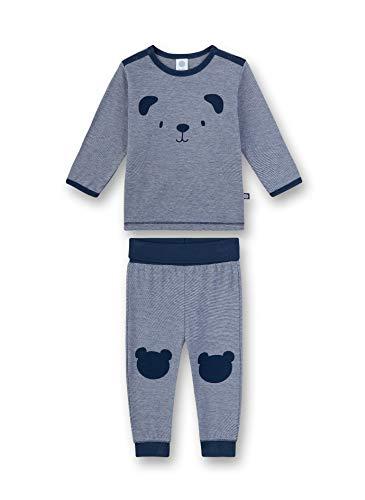 Sanetta Baby-Jungen Pyjama lang Zweiteiliger Schlafanzug, Blau (blau 5193), 98 (Herstellergröße:098)