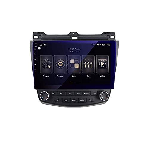 Android 9.0 Double Din Head Unit Coche Estéreo para Honda Accord 7 2003-2007 GPS Navegación Pantalla táctil Pista de Multimedia Reproductor Radio Receptor Carplay DSP RDS (Tamaño: Cuadrado, Color: WiF