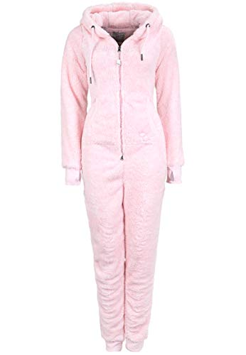 Eight2Nine Damen Jumpsuit Overall aus Teddy Fleece mit Ohren Rose XS/S