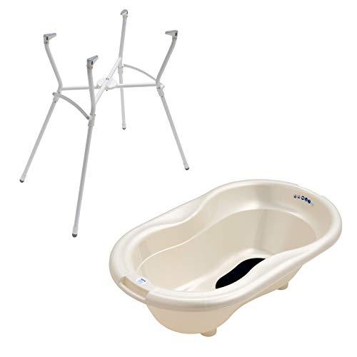 Rotho Babydesign Badewannenständer mit TOP Badewanne Perlweiß Perl