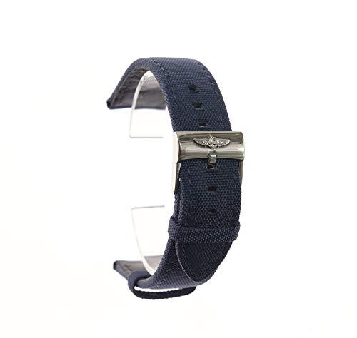 ROUHO Correa Impermeable De Lona De Hebilla De 22Mm Pin para Correa De Nylon Breitling-Azul