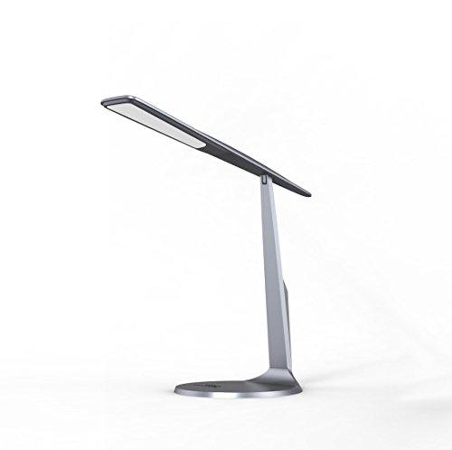 Lámpara de escritorio LED regulable, lámpara de mesa plegable para el cuidado de los ojos, luz nocturna táctil con USB para el hogar, la oficina