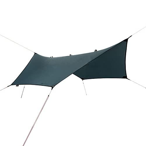 Parasol Qeedo Smart Tarp Hex, lona para senderismo, ligera, robusta, impermeable (3,2x2,8m)