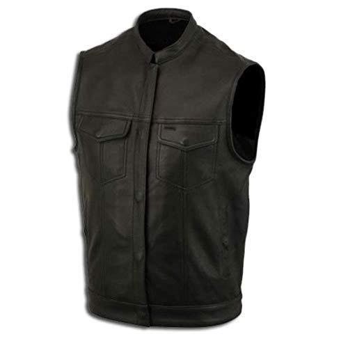 Lederweste, Bikerweste, Motorradlederweste, Clubweste, Chopperweste, Rocker Weste, KUTTE, Vest, Leather Vest, Leather Waistcoat Gr, XL
