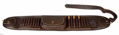 CAZA Y AVENTURA Canana Porta 16 Balas y 1 Cargador Fabricado en Piel