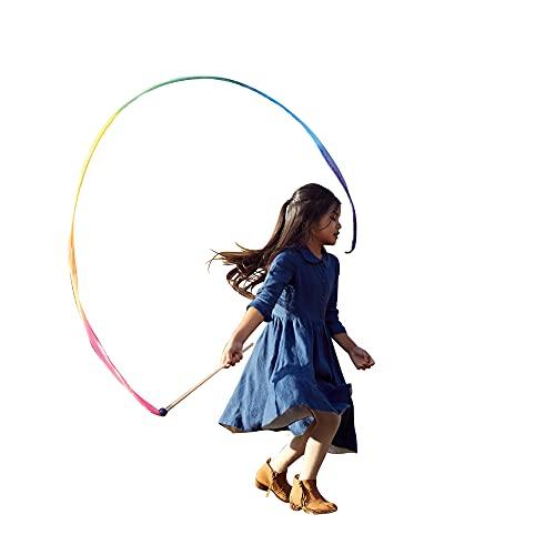 Sarah's Silks Rainbow Streamer - 8' Long Ribbon Wand for Kids, Pretend Play, Dance, Baton Stick...