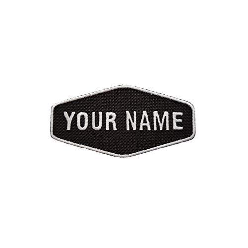 Emporium Embroidery Retro-Aufnäher zum Aufbügeln, mit Namen personalisierbar, für Bikerjacken, Teamuniformen oder als Etikett auf Jeans und Cordstoffen (Klain,