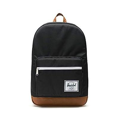 Herschel Pop Quiz Backpack, Black/Tan, Classic 22L by Herschel Supply Co.
