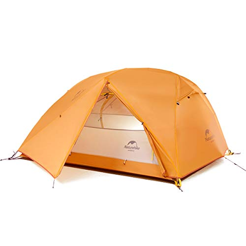 Naturehike Star River Double Layer Ultralight 2 Person Backpacking Tent Waterproof Camping Hiking Tent for Two Person (Orange)