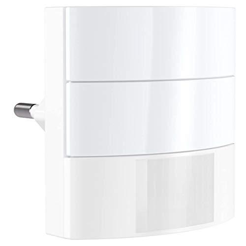 Steinel 035402 MotionSwitch LED Z-Wave Smart Home Bewegungsmelder, Helligkeitssensor, Nachtlicht, Taster, 1.5 W, 230 V