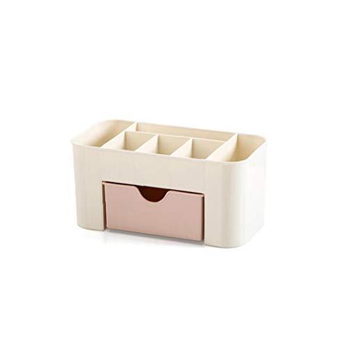 tJexePYK Maquillaje cosmético del Organizador del almacenaje apilable con cajones Vanidad Tabla baño encimera del Escritorio de Oficina Organizador para bolígrafos exhibición de la joyería (Rosa)