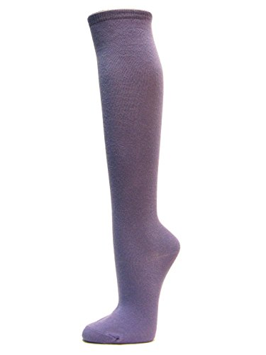 Couver Fashion/Casual Knee High Cotton Socks (1 Pair) (LAVENDER)