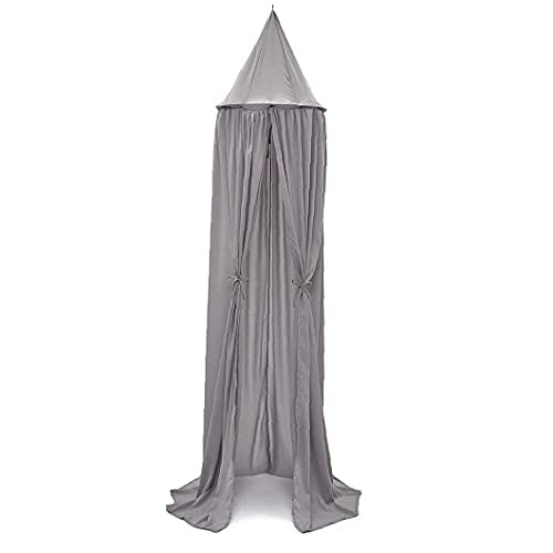 chengbaohuqu Kids Bed Canopy Chiffon Dome Mosquito Net Hanging Crib Nook Castle Tent Nursery Play for Room Decor Gray