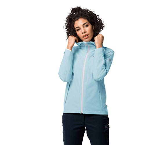 Jack Wolfskin Jwp Shell Veste Femme Bleu Givré FR: XL (Taille Fabricant: XL)