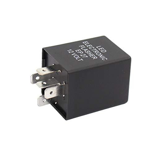 XtremeAmazing 5 Pin EP27 FL27 Electronic Flasher Relay for Car Vehicle LED Turn...