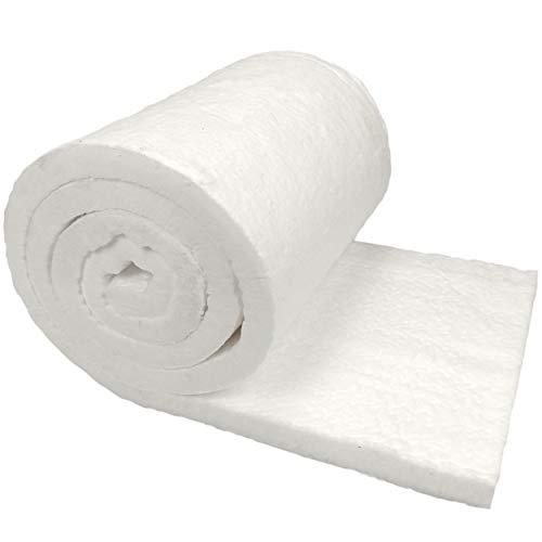 Lynn Manufacturing Kaowool Ceramic Fiber Insulation, 1' Thick x 16' x 100', 2400F Fireproof Insulation Blanket, 3027E