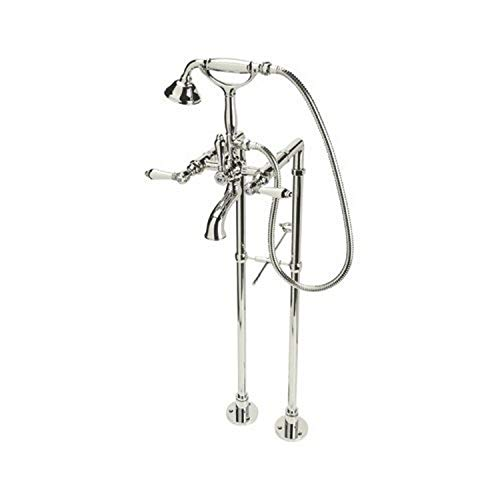 Lowest Price! Rohl AKIT1401XMPN Kit Country Bath Floor Mounted Exposed Tub Shower Mixer Package with...