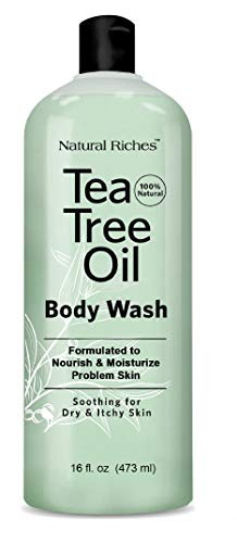 Natural Riches Extra Strength Tea Tree Oil Skin Clearing Body Wash Hand - Peppermint Eucalyptus Oil Soap - 16 oz