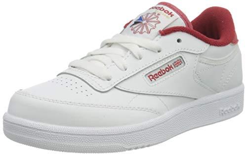 Reebok Club C 85, Sneaker, White/Mars Red/White, 38 EU