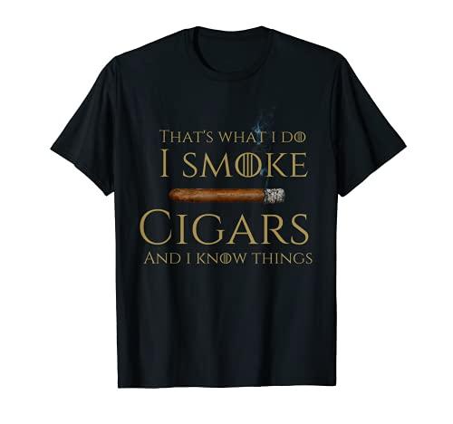 Cigar smoker tshirt I smoke cigars and i know things T-Shirt
