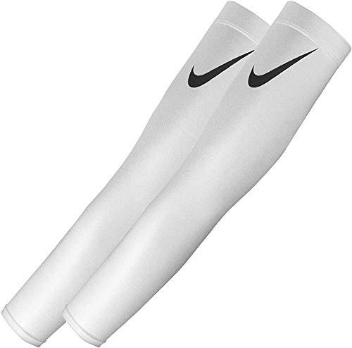 NIKE Pro Dri-FIT 3.0 Arm Sleeves, White (Adult L/XL)