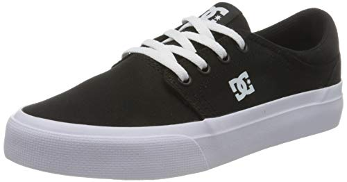 DC Shoes Womens Trase Sneaker, Black/Black/White, 42.5 EU
