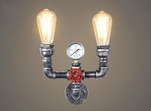 Vintage Wandlamp voor waterpijp, industrieel ijzer, roest, wandlamp, retro aisle-verlichting voor loft café, woonkamer, slaapkamer, nacht