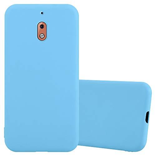 Cadorabo Coque pour Nokia 2.1 / Nokia 2 2018 en Candy Bleu - Housse Protection Souple en Silicone TPU avec Anti-Choc et Anti-Rayures - Ultra Slim Fin Gel Case Cover Bumper