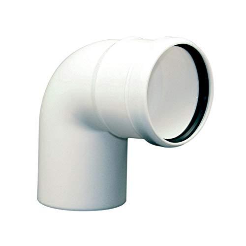 Curva a 87° in Plastica Polipropilene PP Bianco per Caldaia a Condensazione