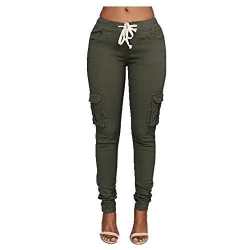 N\P Mujer Casual Pantalones Primavera Verano Pantalones Deportes - verde - Small