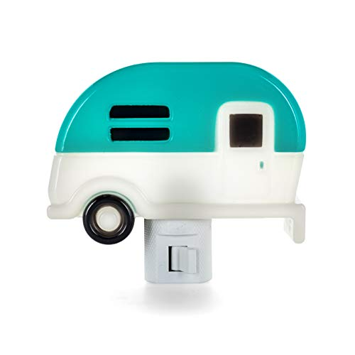 Camco Camper Nightlight | Features A 360-Degree Swivel Base | Includes (1) 120V LED Bulb | Blue Color (53103)