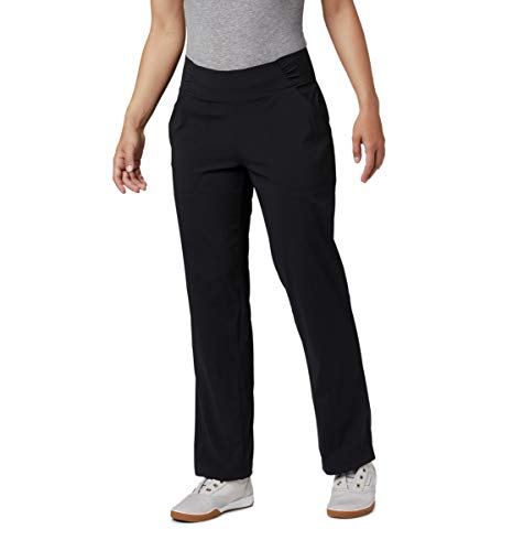 Columbia Women's Plus Size Anytime Casual Relaxed Pants, Stain Resistant, Sun Protection, Black, 3X x Regular