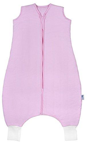Schlummersack Schlafsack mit Füßen in 2.5 Tog fürs ganze Jahr - Rosa - 110cm für eine Körpergröße von 110 bis 120 cm