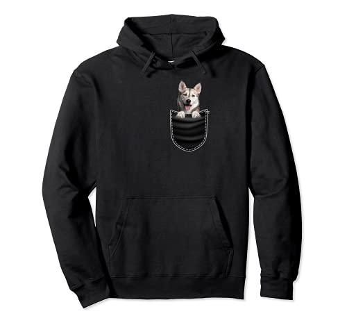 Siberian Husky razza cane amante – Design tascabile regalo Felpa con Cappuccio