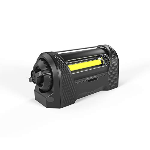 Rota-Light- The World's Most Portable Floodlight, Surprisingly Bright 350 Lumen Rechargeable LED Flashlight with Rotating Beam, IPX4 Waterproof, up to 250 Hour Battery Life, Strong Magnetic Base