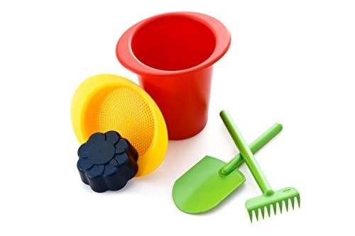 BioFactur Sandkasten Strandspielzeug, Spielzeug Set, Hergestellt aus hochwertigen und nachwachsende Materialien - 5 Stück
