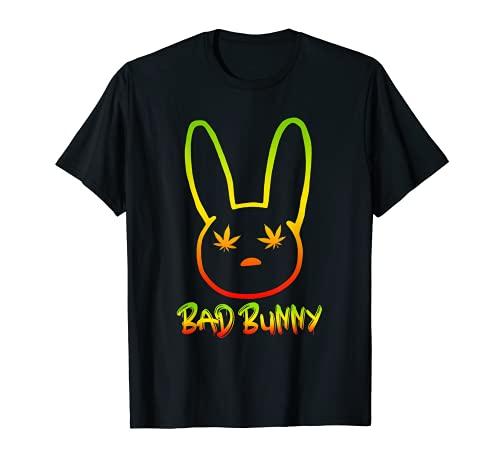 Marihuana Weed Leaf Bad Bunny Stoner Traje Hombres Mujeres Camiseta