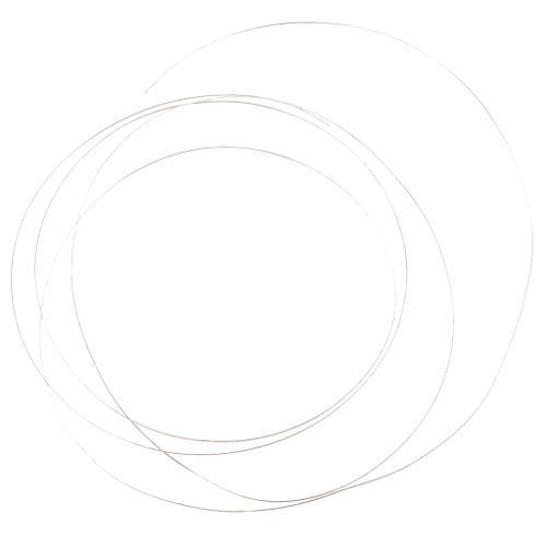 yotijar Pulsera de accesorios para collar con hilo de plata 925 para hacer tú mismo – Plata 0,3 mm