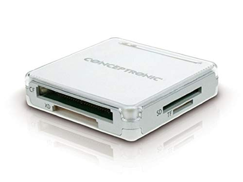 Conceptronic Design Cardreader All-in-One USB 2.0 wit/zilver CMULTICRSI