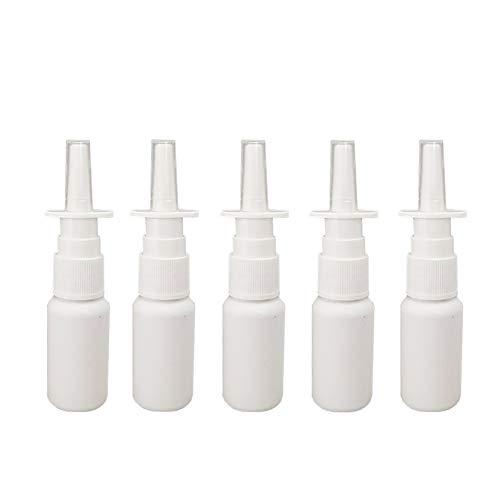 JIHUOO 15 Pièces Vide Flacon Pulvérisateur Nasal Rechargeable Récipient Nasal en Plastique 20ml