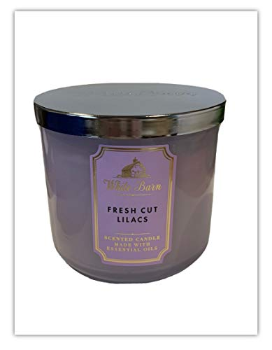 White Barn Bath & Body Works 3-Wick Scented Candle in Fresh Cut Lilacs (2021)