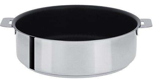 Cristel - S28QE- Sauteuse inox 28cm sans poignée amovible - Anti-adhérent Exceliss+ Collection Mutine