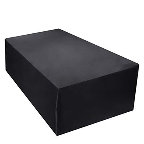 ZQIAN Funda para Muebles de Jardín 213x132x74cm Anti Viento/UV Impermeable Juego de Muebles Lluvia Sol Protección para Sofás,Mesas y Sillas de Patio, Negro