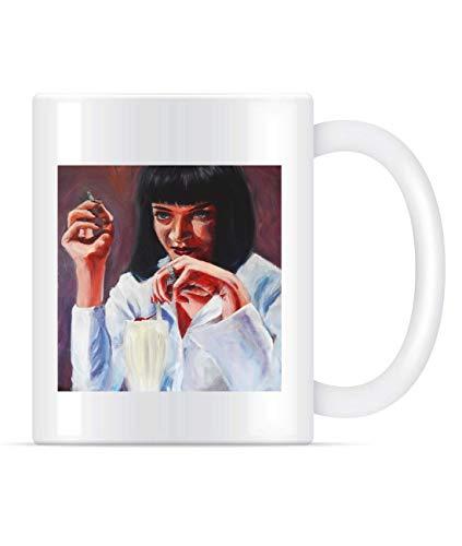 N\A $ 5 Shake Classic MIA Wallace Pulp Fiction Taza de café para Mujeres y Hombres Tazas de té