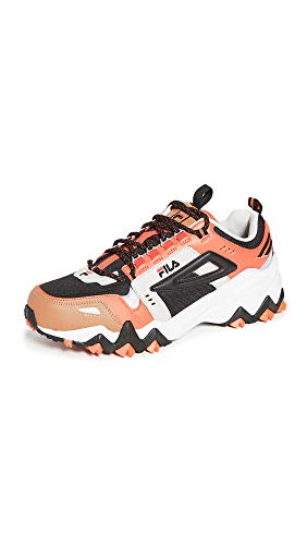 Fila Men's Oakmont TR Sneakers, Black/Red Orange/Silver Birch, 10.5 Medium US