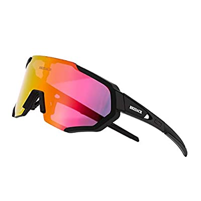 Cycling Polarized Sports Sunglasses with Interchangeable Lenes.(New Black)