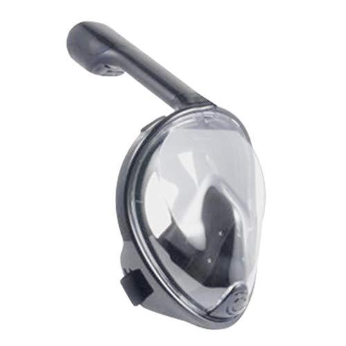 bozitian Máscara de esnórquel de cara completa, máscaras de buceo de 180 ° con vistas al mar, antivaho, antifugas, protector facial para principiantes y jóvenes
